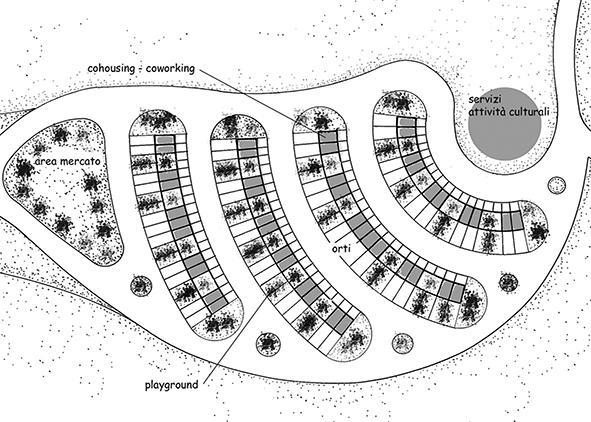 Post-earthquake urban system in Monterosso (credit: Chimirri, 2018).
