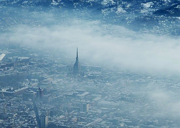 Air pollution over the city of Turin (credit: F. Lamanna, 2017). agathón