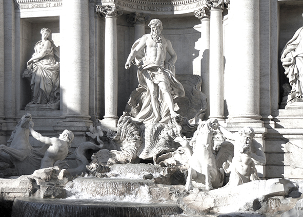 Trevi Fountain in Rome (photo by the author, 2013). AGATHÓN 07 | 2020