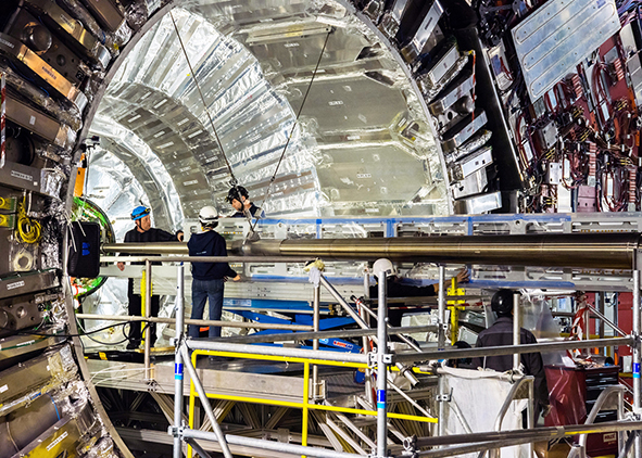 Tunnel work for the future High Luminosity Large Hadron Collider (HL-LHC), 16 August 2019 (credit: M. Brice, CERN Photos Archive). AGATHÓN 07 | 2020