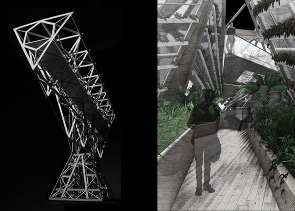 Collage: dystopias of the metabolic city (credit: A. Camellato, C. Passeri and F. Senesi, 2020). AGATHÓN 08 | 2020