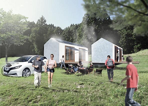 Conceptual image of EcoCabin (credit: S. Tajima, 2020). AGATHÓN 08 | 2020