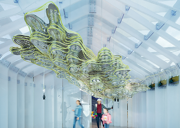 BIO.tech HUT. At the EXPO 2017 in Astana (Kazakistan), ecoLogicStudio created a pavilion synthesizing the studio's research through the prototype of a future algae farm that explores the anthropological relationship between mankind and the natural environment in the Anthropocene. AGATHÓN 09 | 2021