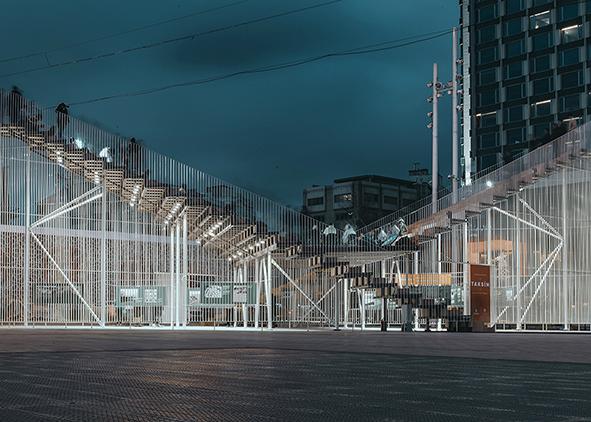 Kavuşma durağı in Taksim Square (Istanbul) by Inter.National.Design (credits: Y. Akgul; O. Ulusoy, 2020). AGATHÓN 09 | 2021