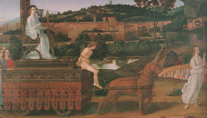 Bartolomeo di Giovanni (attrib.), Il trionfo della Castità, Galleria Sabauda, Torino